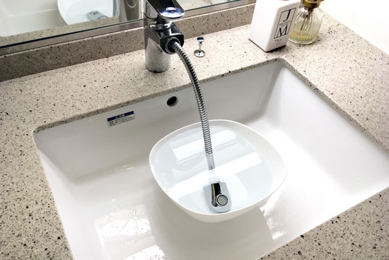 蛇口の水垢をクエン酸でお掃除