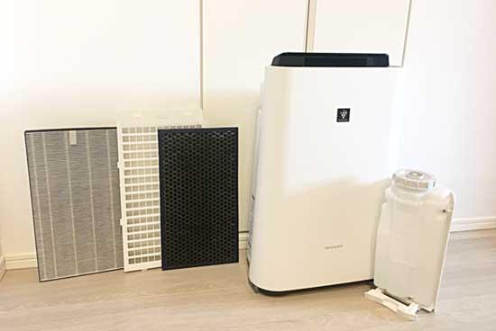 加湿器・空気清浄機のフィルターを重曹で掃除